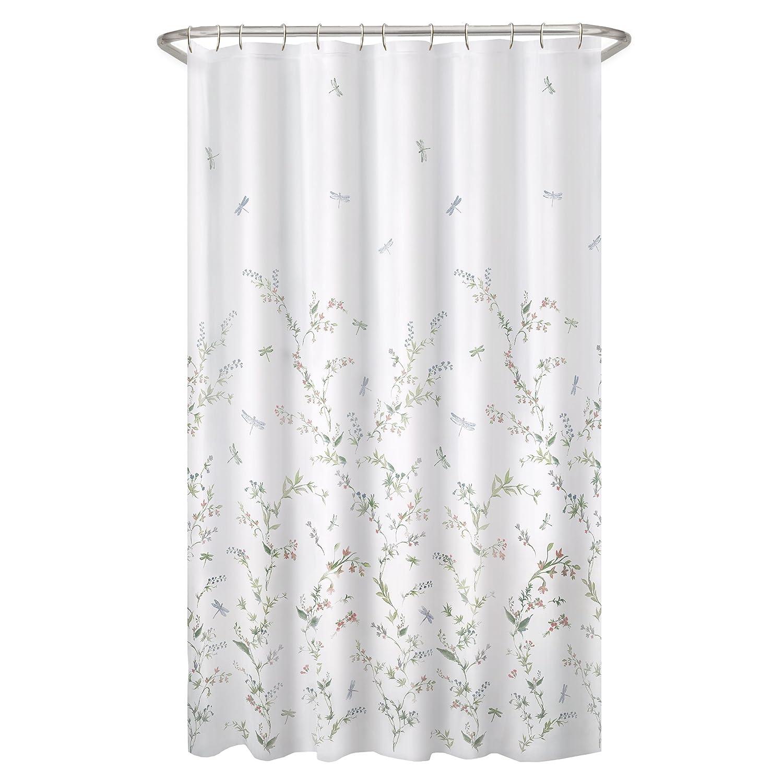 MAYTEX Dragonfly Garden Semi Sheer Fabric Shower Curtain 7065501