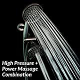 ShowerMaxx | Dual Oil Rubbed Bronze Finish Shower Head Combo with Handheld | Showerhead System with 36 Sprays Setting inc. High Pressure and Massage | 3-Way Showerheads with Hose and 3-Way Diverter