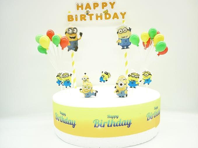 Set de decoración para tarta de cumpleaños de los Minions ...
