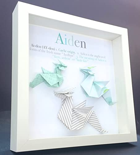 Personalized Name Origin and Meaning Baby Gift Paper Origami Dragon ...