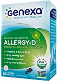 Genexa Homeopathic Allergy Medicine: Certified Organic, Physician Formulated, Natural, Non-Drowsy, Non-GMO Verified Decongestant. Helps Provide Seasonal Allergy Relief (60 Chewable Tablets)