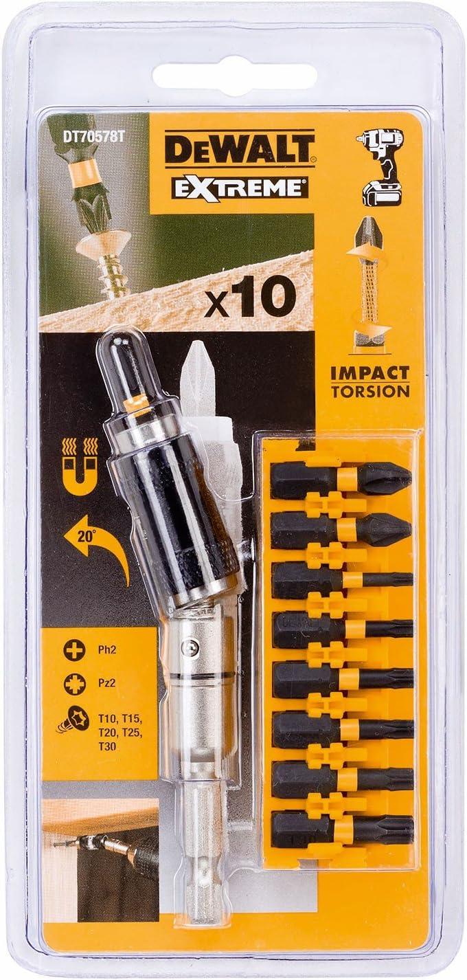 DT7391T 5 x 50 mm PZ2 Bits DEWALT DT7505 pivotement impact tournevis porte-embout