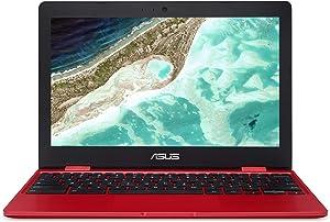 "ASUS C223NA-DH02-RD Chromebook 11.6"", Intel Dual-Core Celeron N3350 Processor (up to 2.4GHz) 4GB RAM, 32GB eMMC storage, Red (Renewed)"