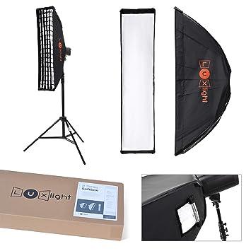 22x90cm Stripbox & Honeycomb Grid Bowens Mount | LuxLight® | Softbox for  Flash