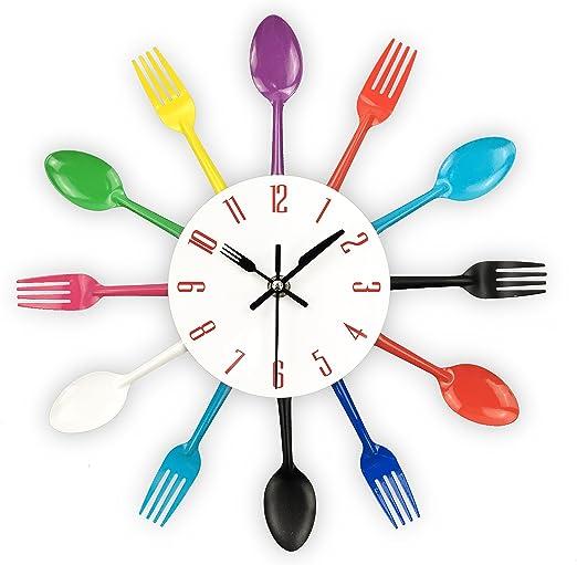Flower Fork Spoon Quartz Wall Clock Movement Pointer Hour Minute Second Hands