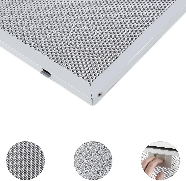 Klarstein Filtro de aluminio para grasa 26 x 37 cm Recambio: Amazon.es: Hogar