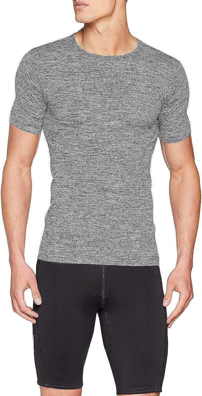 Sundried Mens Ajuste del músculo Compresión Camiseta sin Fisuras Atlético Gimnasio Ropa