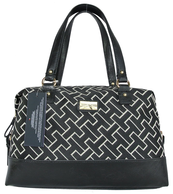 29f14233eab6 Amazon.com: Tommy Hilfiger Women Bowler Satchel Handbag in Black: Shoes