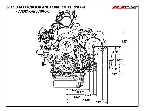Amazon Com 5 3l Ls Heavy Duty Saginaw Truck Power Steering Pump