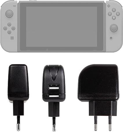 DURAGADGET Cargador con Enchufe Europeo para Videoconsola Nintendo ...