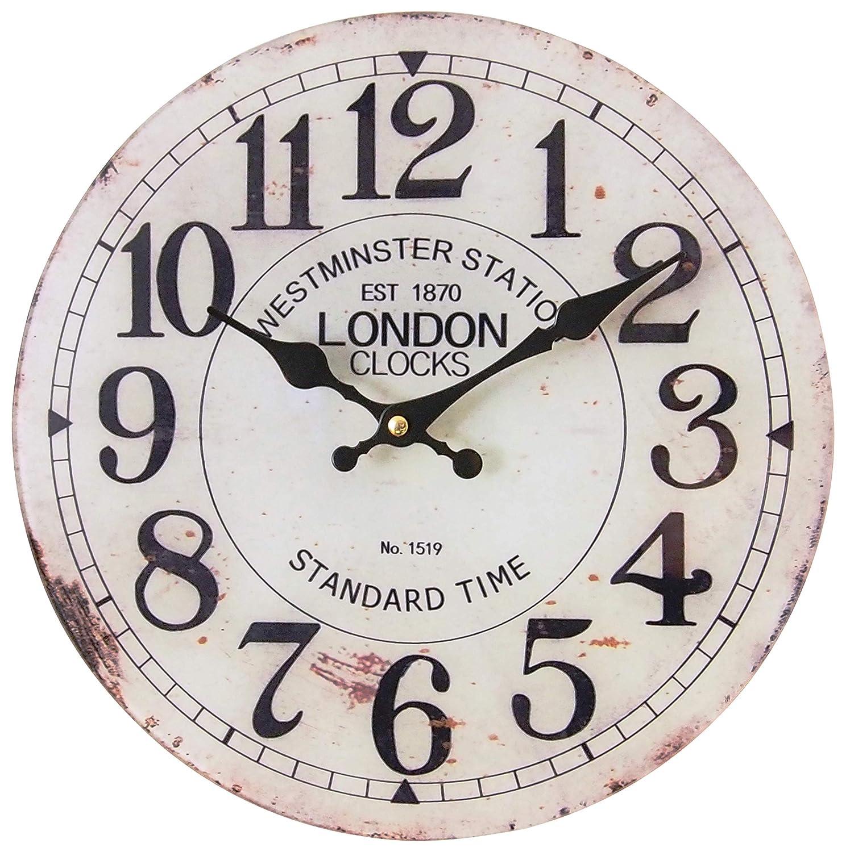 perla pd design Glaswanduhr Quarzuhr Vintage Design London ca Ø 30 cm