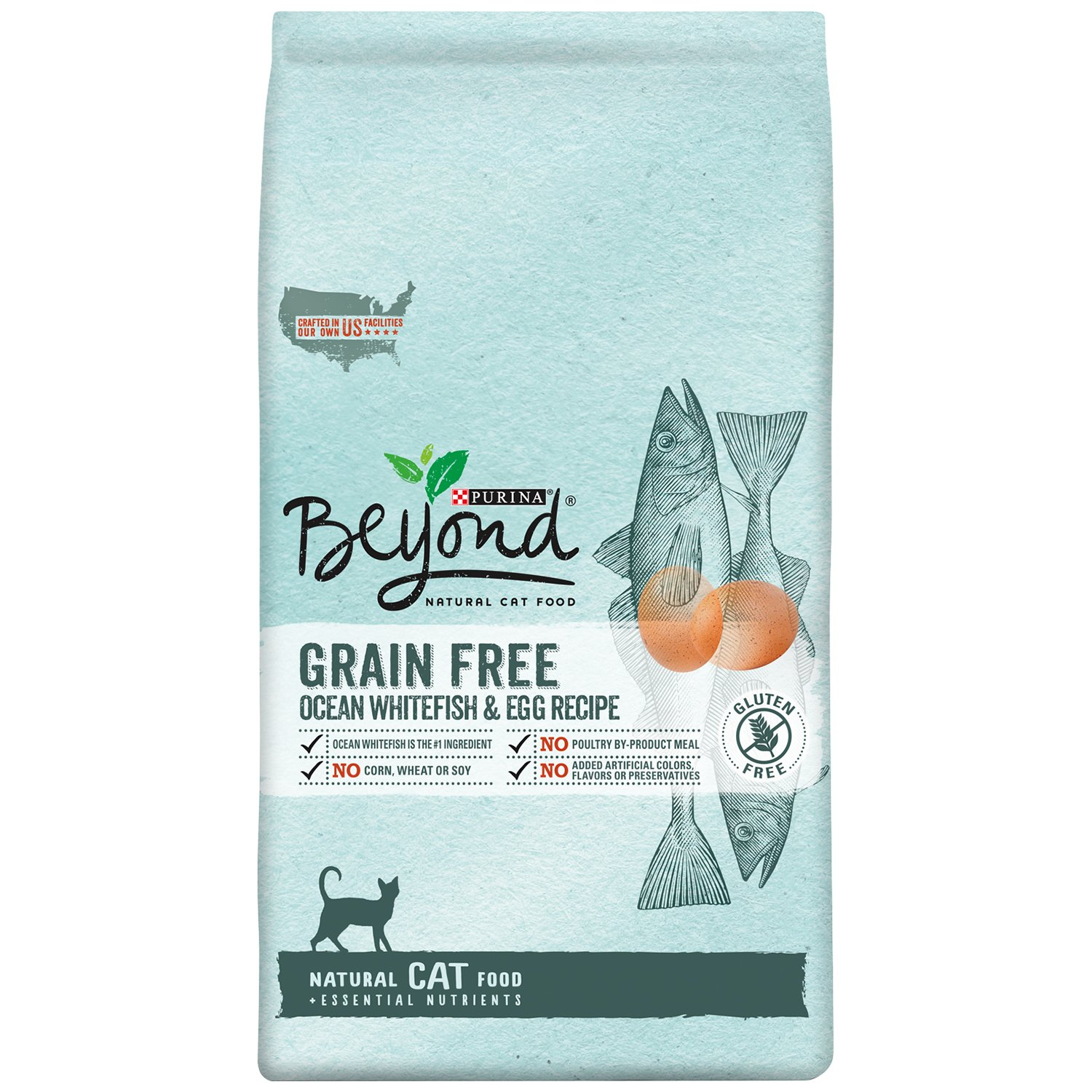 Purina Beyond Natural Grain Free Ocean Whitefish & Egg Recipe Dry Cat Food