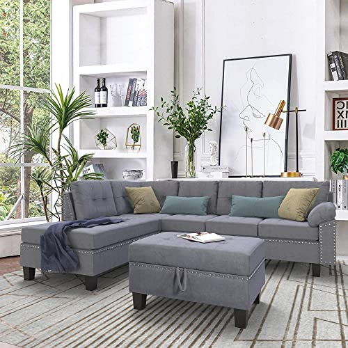 P PURLOVE Sectional Sofa Set