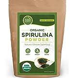 #1 Organic Spirulina Powder, Purest Source & Maximum Nutrient Density, Vegan Protein, USDA Certified, FREE Recipe Book! …