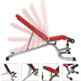 TnP Adjustable Weight Bench Training Fitness Gym Flat Incline Multiuse Bench Flat/Incline / Decline Workout Exercise Multi