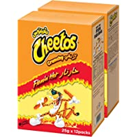 Cheetos Crunchy Flaming Hot, 12 x 25 gm (Pack of 2)