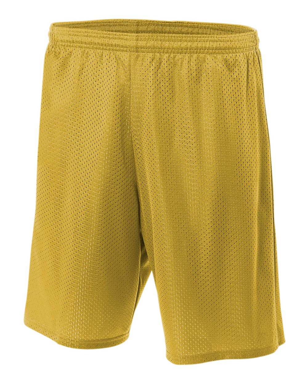 A4 7'' Lined Tricot Mesh Short, Gold, 3X-Large