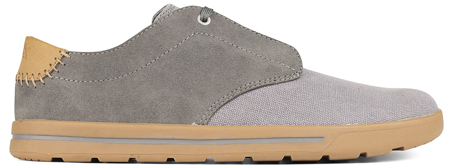 Forsake Phil Lace - Men's Casual Canvas Low-Top Sneaker 9 D(M)|Steel
