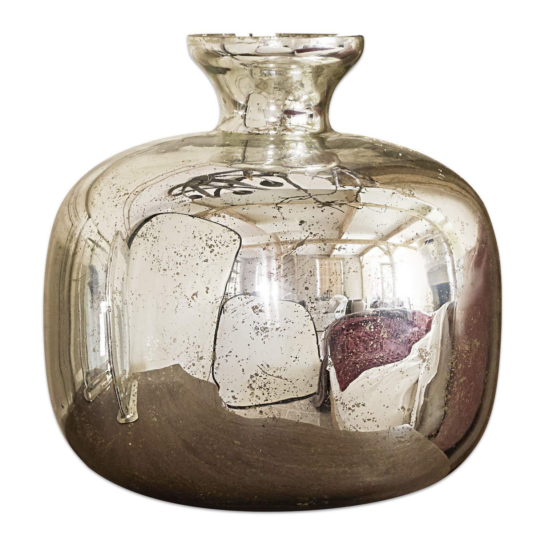 Loberon Vase Jaxon, Glas, H Ø ca. ca. ca. 25 26 cm, Silber B07JMGT1T5 Vasen cf8ee1