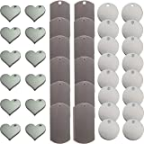 Metal Stamping Blanks for Engraving or Stamping: Metal Heart Blanks, Dog Tag Blanks, and Circle Tags by Zoom Precision - 40 P