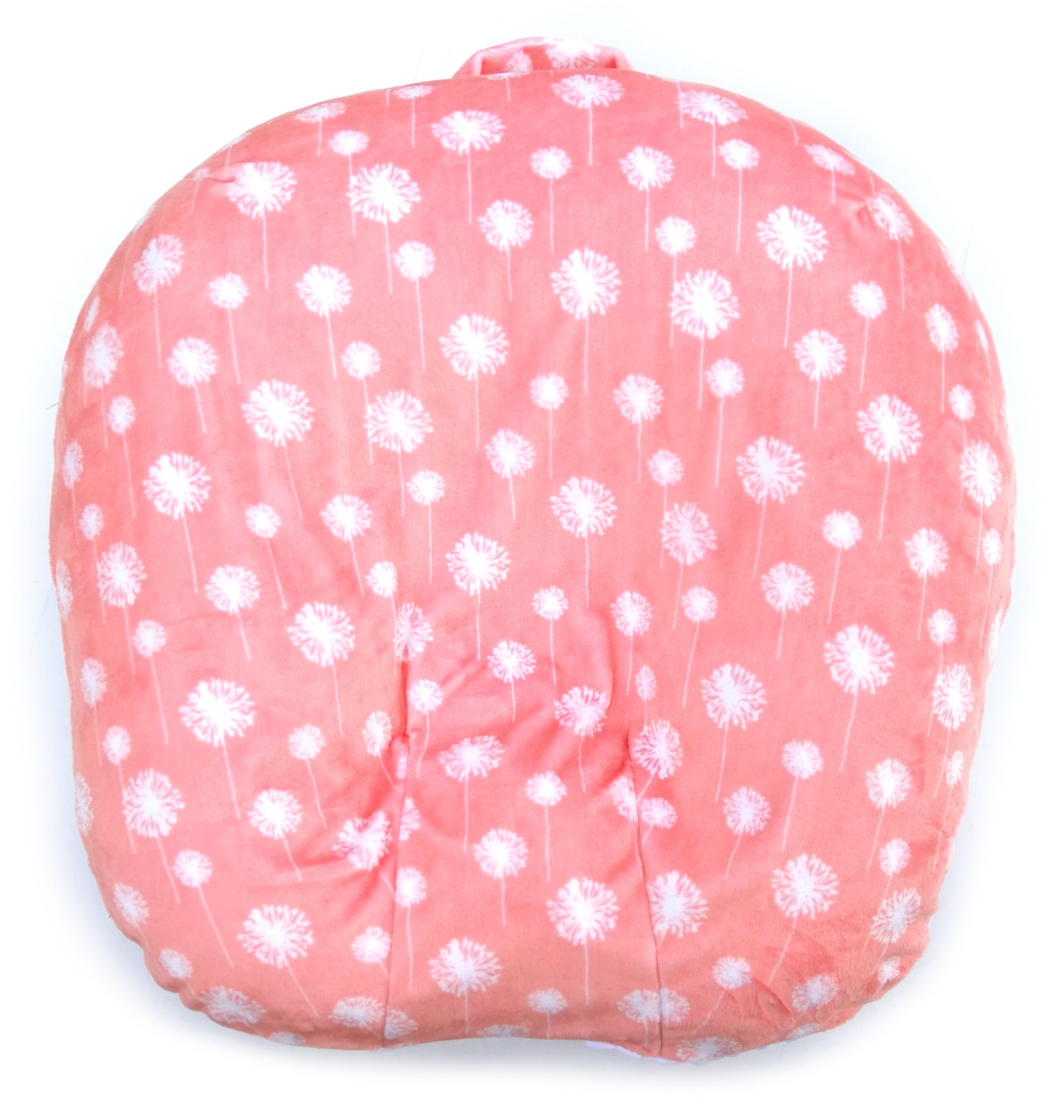 2cloud9 Removable Cover for Newborn Lounger | Baby Lounger Cover | Reversible Sides of Dot Minky and Cuddle Fleece Fabrics | Made in USA (No. 11)