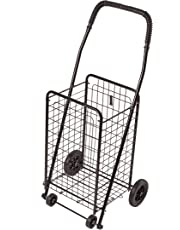 DMI Compact Folding Shopping Cart, Lightweight, Black