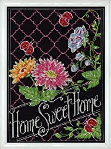 """Design Works Crafts Home Sweet Home Chalkboard Counted Cross Stitch, 10 by 14"""""""