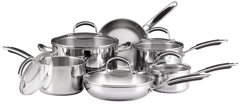 kitchenaid cookware set stainless steel 11 piece amazon ca home rh amazon ca kitchenaid pots and pans clearance kitchenaid pots and pans set