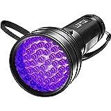 LOFTEK UV Flashlight Black Light, 51 LED 395 nM Flashlight Perfect Detector for Pet (Dog and Cat) Urine and Dry Stains…