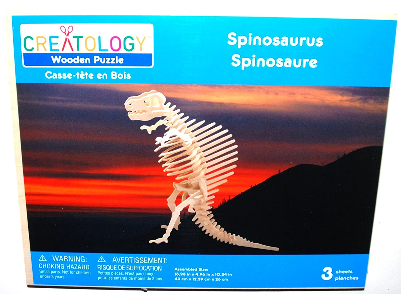 交換無料! Creatology Wooden Tall 3D (1 Puzzle, Large Spinosaurus Dinosaur - 43cm Dinosaur Tall (1 Each) B003AYNDVQ, レンズアミーゴ:a3ae5029 --- quiltersinfo.yarnslave.com