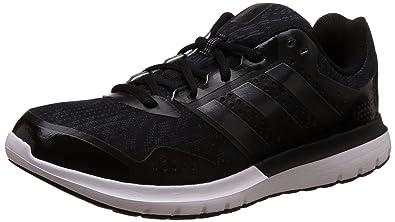 adidas Duramo Elite 2.0 Mens Running Trainer Shoe Black/Grey - UK 9