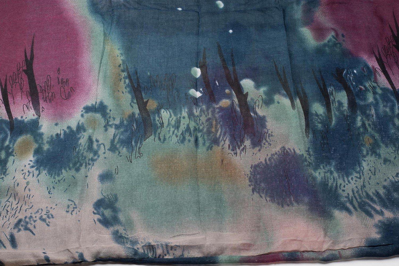 foulard da donna 01017036 styleBREAKER sciarpa tubolare scaldacollo con motivo a macchie gradiente di colore batik puntini e trattini sciarpa
