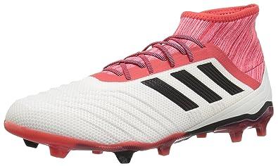 735f5ce8f18c adidas Predator 18.2 FG Soccer Shoe, White/Core Black/Real Coral, 6.5