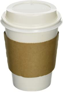 Amazon.com: 100 Paper Coffee Cup/Disposable Hot Cup 12 oz. WHITE ...