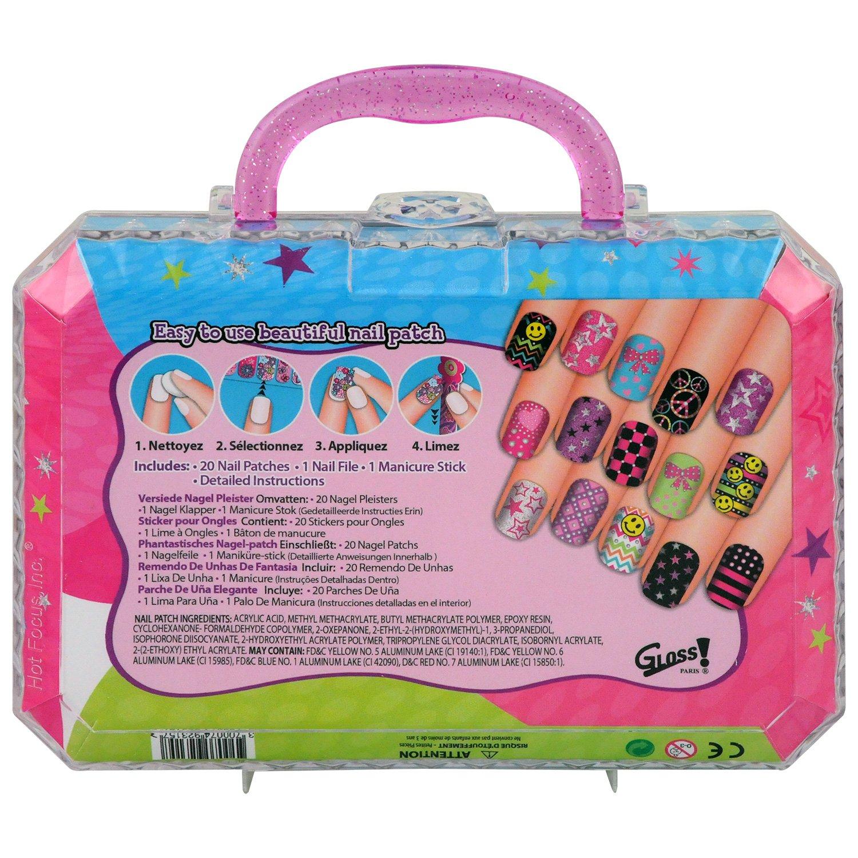 Gloss! Kit de Nail Art Glitter Nail Art 147 Pièces, Coffret Cadeau-Coffret Maquillage #012AWG