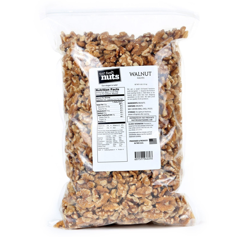 Bulk Walnut Halves - 4 lb - Fast Fresh Nuts