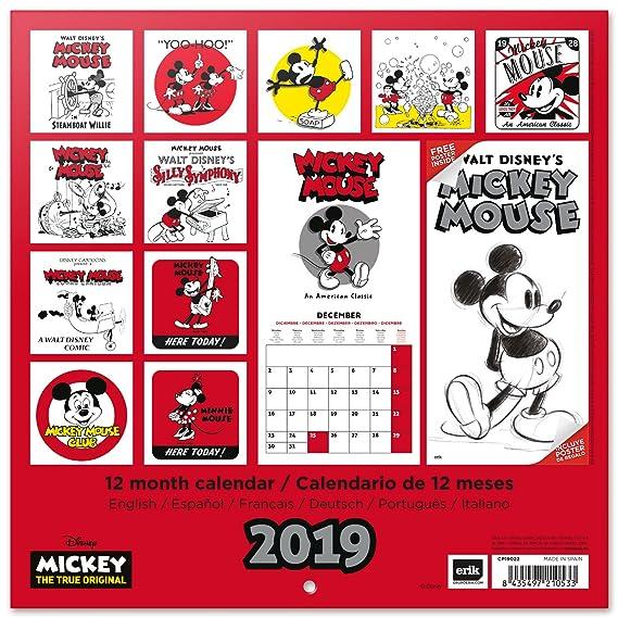 Calendario 2019 Disney Para Imprimir.Grupo Erik Editores Cp19022 Calendario 2019 Disney Mickey
