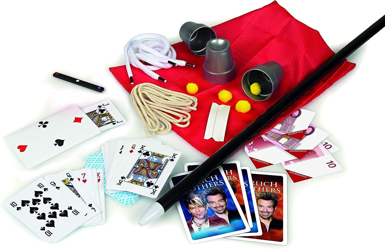 Clementoni 59048 Ehrlich Brothers Secrets of Magic, Zauberkasten für Kinder ab 7 Jahren, magisches Equipment für 30 verblüffende Zaubertricks...