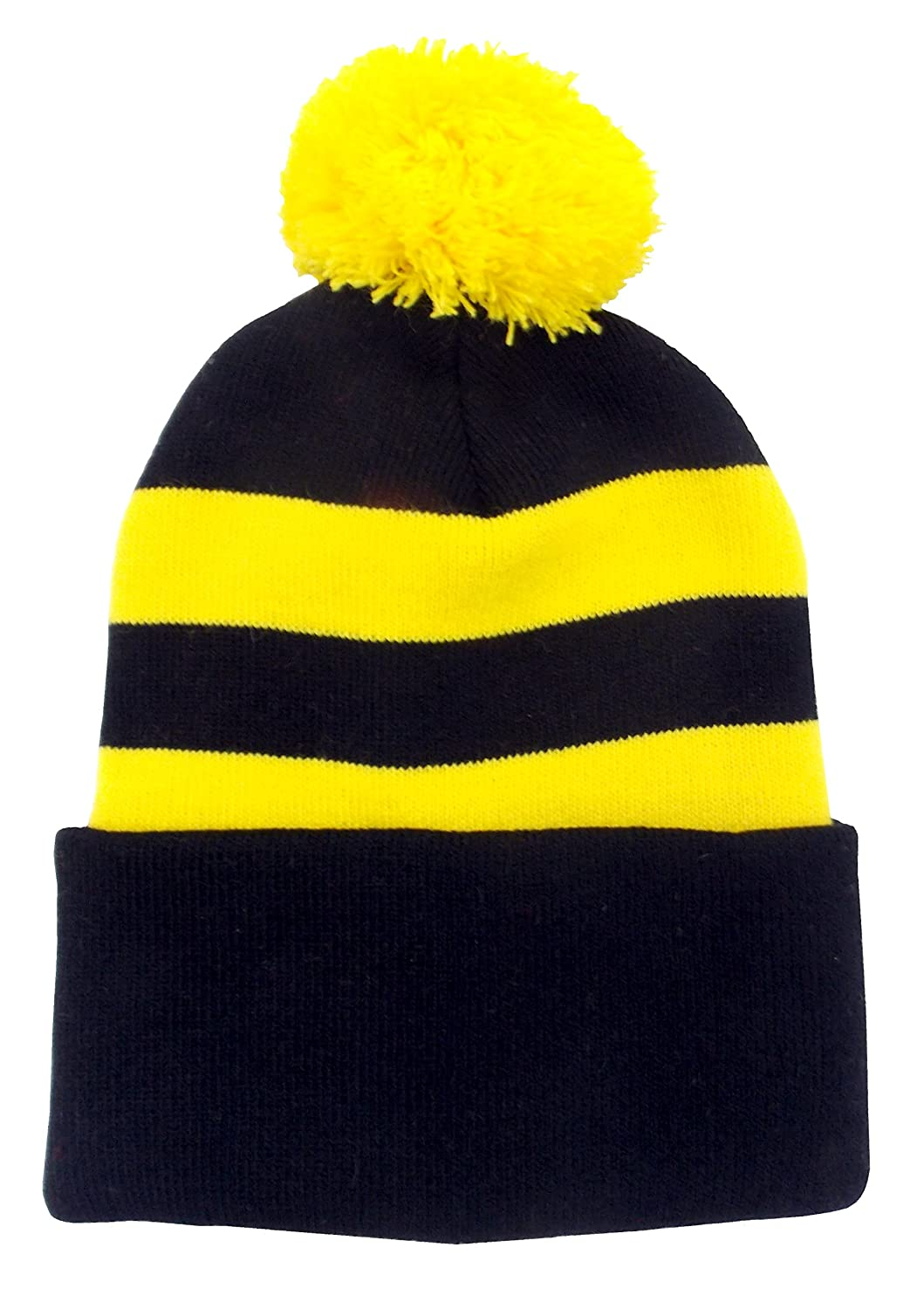e50baf681d9 Arena Black and Yellow Retro Style Bobble Hat  Amazon.co.uk  Sports    Outdoors