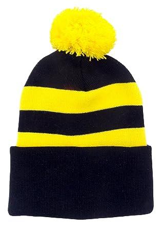 Arena Black and Yellow Retro Style Bobble Hat  Amazon.co.uk  Sports ... 4f5fbb1840f