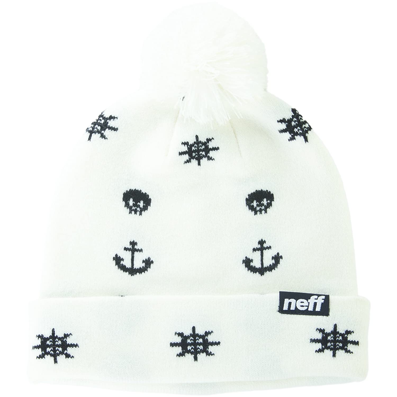 f854b0749 Amazon.com: Neff Mens Ahoy Beanie Hat, White, One Size: Clothing