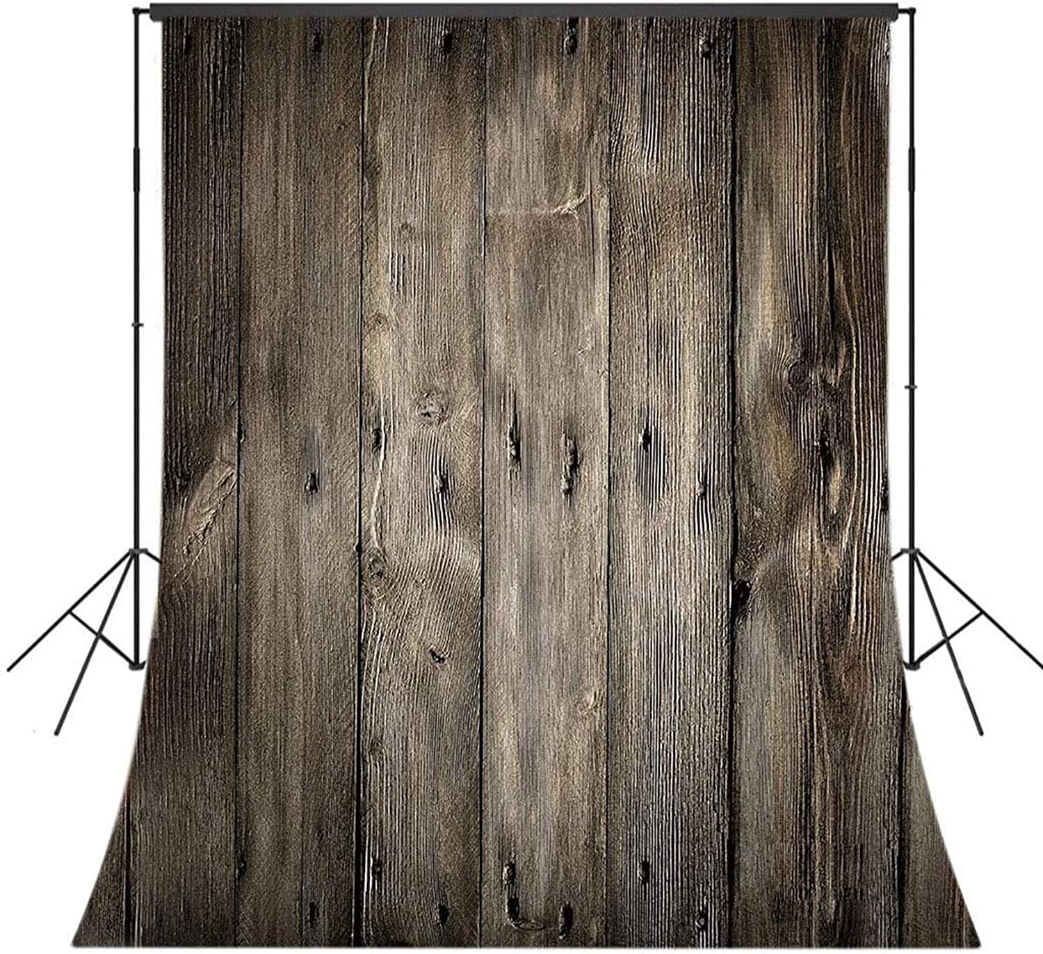 Zhy 7X5ft Gray Wooden Grain Wall Backdrop Retro Mottled Wood Floor Photography Background Child Newborn Baby Shower Photo Backdrop Stuido Booth Props CHE027