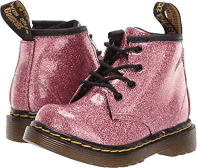 51dcbf92fda5 Dr. Martens Kid's Collection Baby Girl's 1460 Glitter Stars Brooklee Boot ( Toddler) Pink