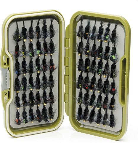 Lakeland Fishing Supplies Caja de Moscas Impermeable + 10, 25 o 50 ...