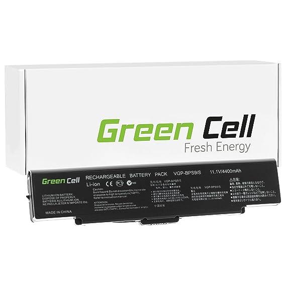 Verde Cell® - Batería para ordenador portátil Sony VAIO VGN-SZ730E/C negro negro Standard - Green Cell Cells 4400 mAh: Amazon.es: Informática