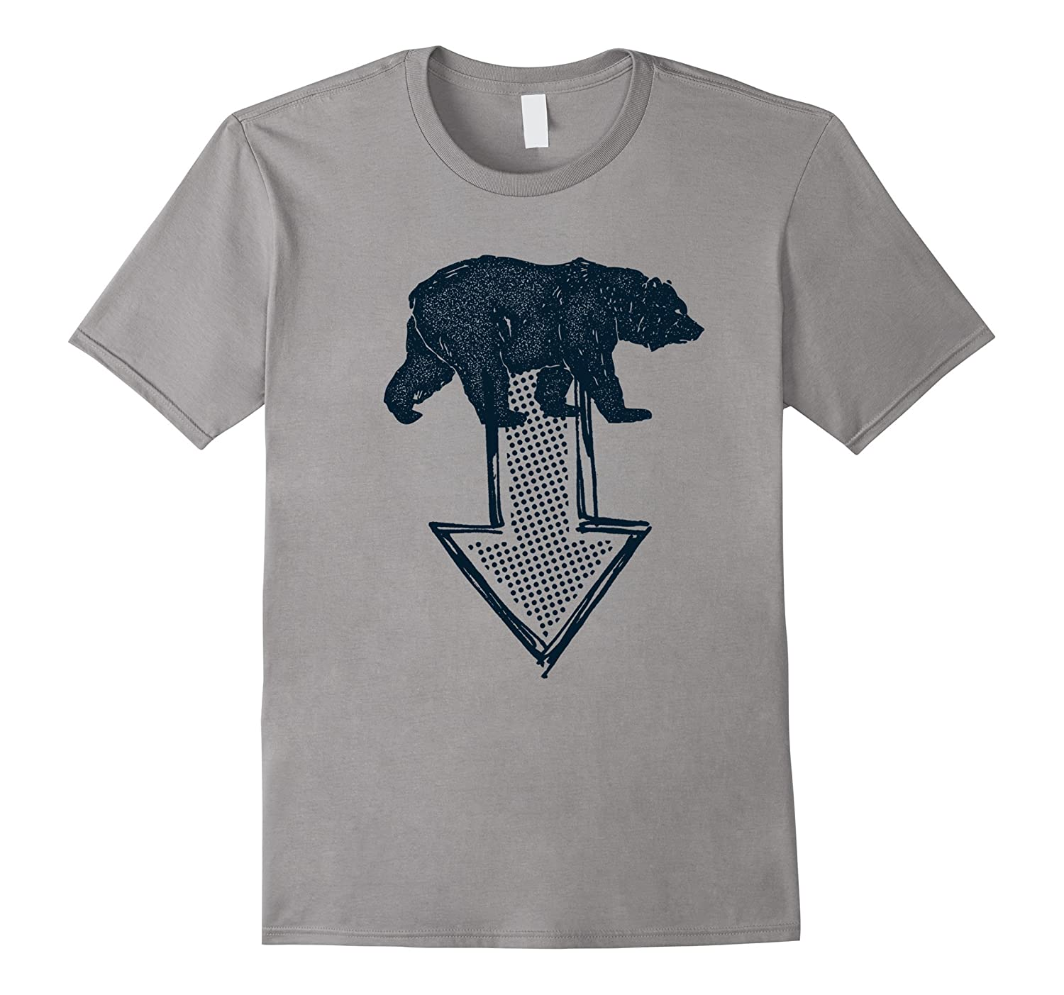 Blue Bear and Down Arrow Custom Classic T Shirt-ANZ