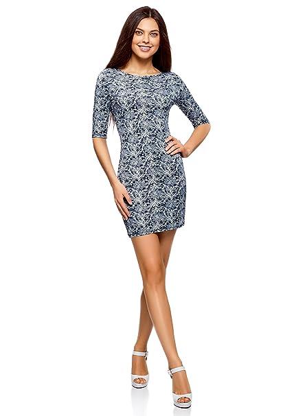 9399d0c61 oodji Ultra Mujer Vestido de Punto Ajustado  Amazon.es  Ropa y accesorios