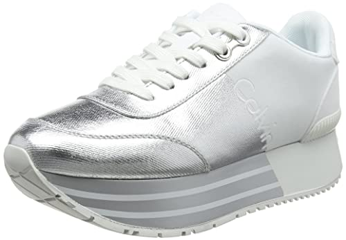 Womens Carlita Metal Canvas/Flocking Trainers Calvin Klein M6OAH