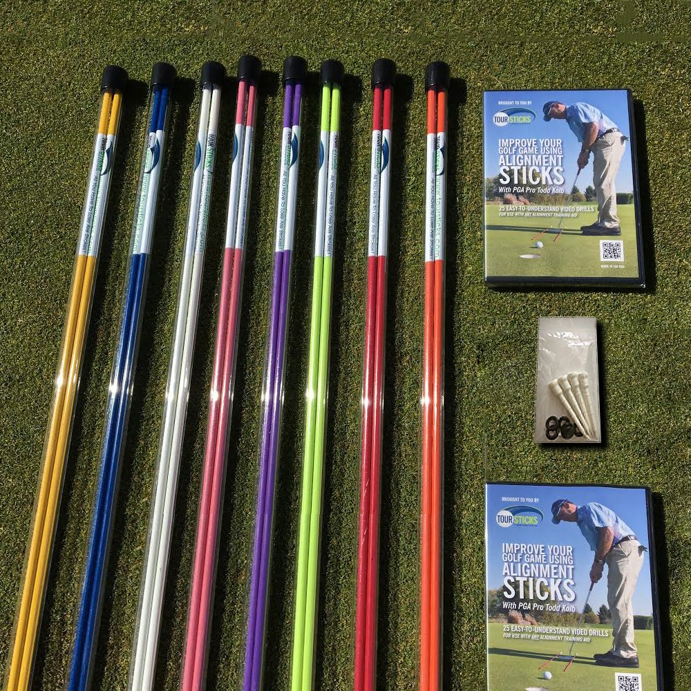 Amazon.com: Palos de alineamiento para golf, de Tour Sticks ...