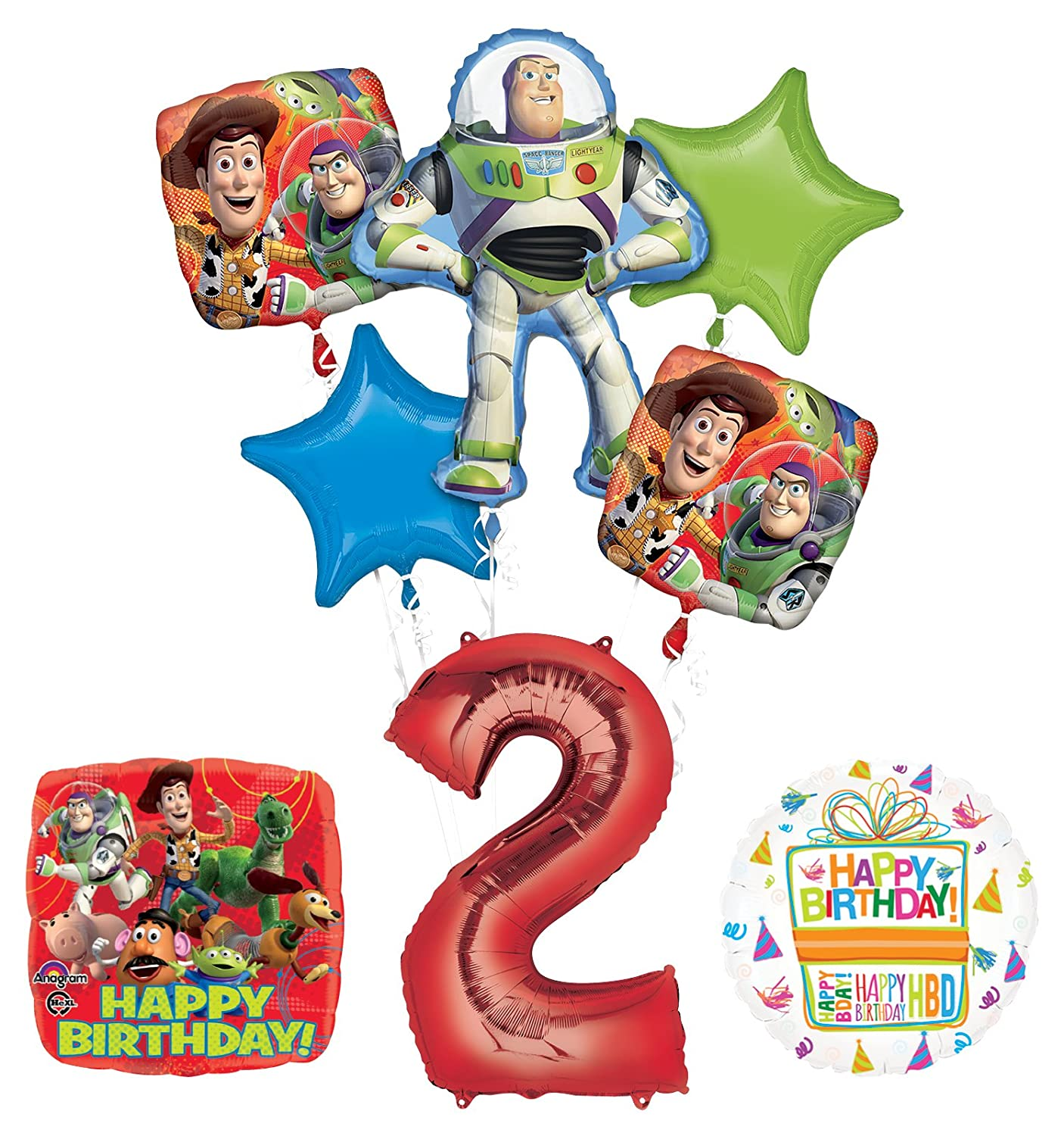 Toy Story 2nd Birthday Party Supplies and Balloon Bouquet Decorations Mayflower